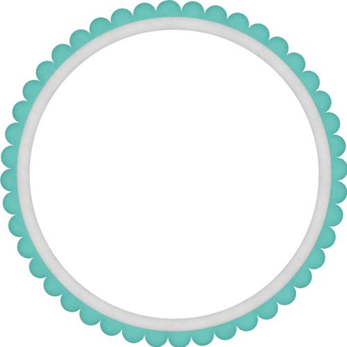 Круглая бирюзовая фоторамка