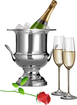 Фужеры с шампанским фото