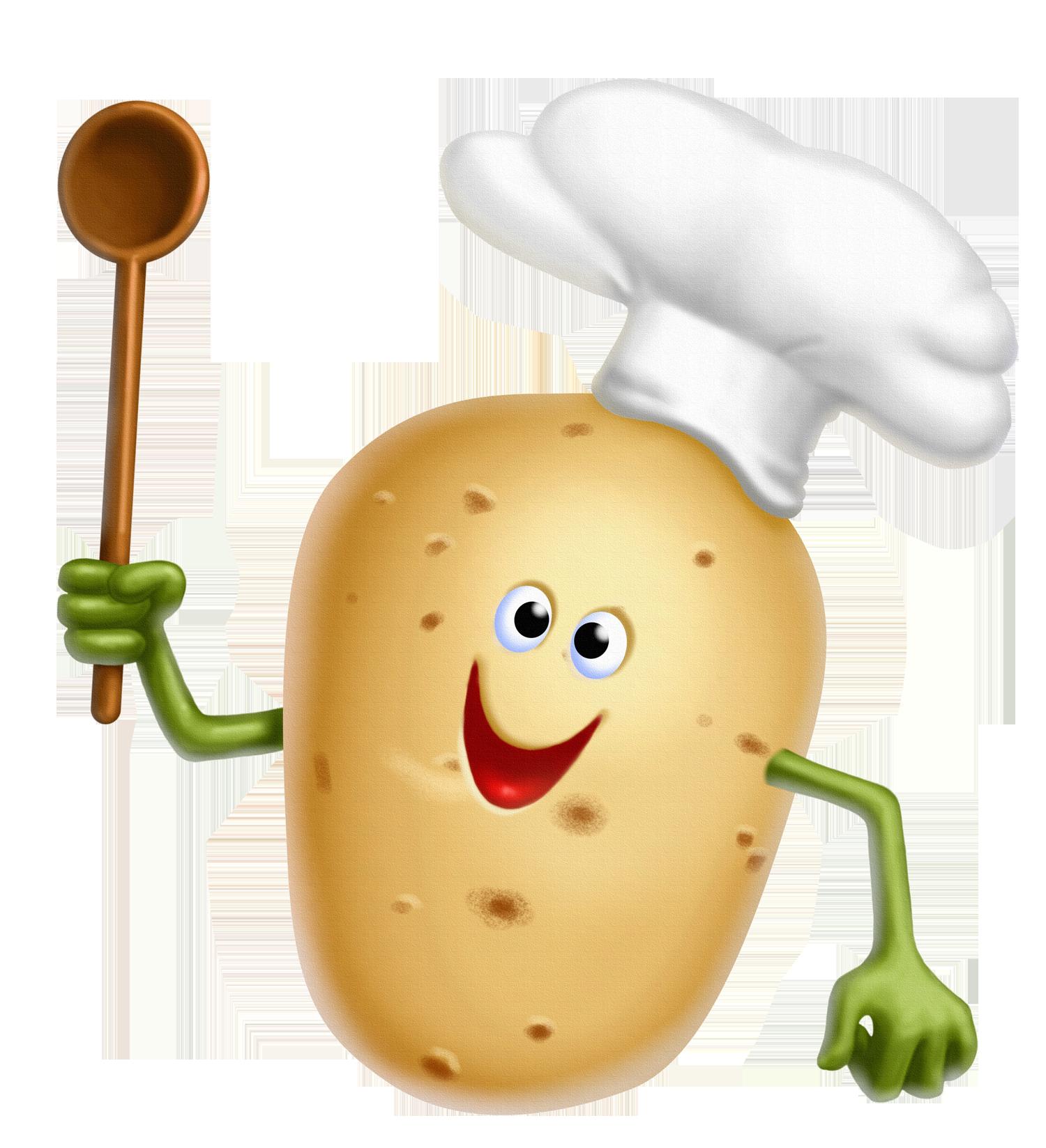 Картошка на белом фоне